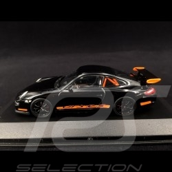 Porsche 911 type 997 GT3 RS 3.6 2006 mk I Black / Orange 1/43 Minichamps WAP02012817