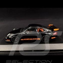 Porsche 911 type 997 GT3 RS 3.6 2006 ph I Noir / Orange 1/43 Minichamps WAP02012817