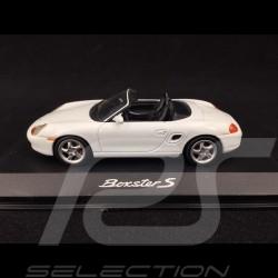 Porsche Boxster S type 986 2000 Blanc White Weiß 1/43 Minichamps WAP02006299