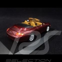 Porsche 996 Carrera Cabriolet 1998 rouge arena 1/43 Minichamps 400061092