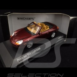 Porsche 996 Carrera Cabriolet 1998 arena rot 1/43 Minichamps 400061092