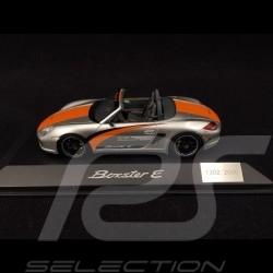Porsche Boxster E type 987 2011 argent / bandes orange 1/43 Spark WAP0201080C