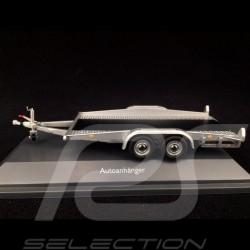 Remorque porte-voiture pour Porsche double essieu grise 1/43 Schuco 450376500 Car transporter trailer Autotransporter Anhänger