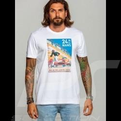 T-shirt 24h du Mans 1959 Poster White - men