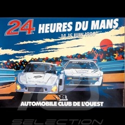 T-shirt 24h du Mans 1980 Poster White - men