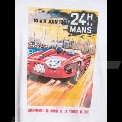 T-shirt 24h du Mans 1961 Red logo / Poster White - men