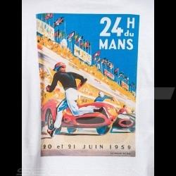 T-shirt 24h du Mans 1959 Blue logo / Poster White - men