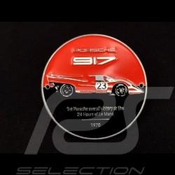 Grill Badge Porsche 917 n° 23 50 Jahre Le Mans 1970 Sieg Rot / Schwarz WAP0509170MSZG