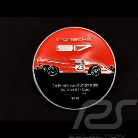 Badge de grille Porsche 917 n° 23 50 ans victoire Le Mans 1970 Rouge / Noir WAP0509170MSZG