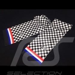 Scarf necktie Gulf checkered flag tricolor stripes