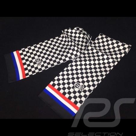 Foulard écharpe Gulf drapeau à damier Scarf necktie Gulf checkered flag  Schal Gulf karierte Flagge