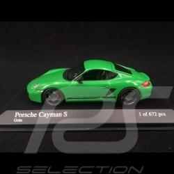 Porsche Cayman S type 987 2008 viper green 1/43 Minichamps 400065624