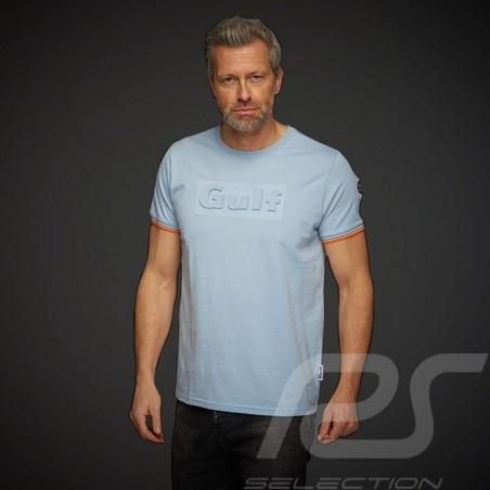 Gulf T-shirt 3D effect Gulf blue - men