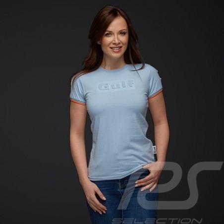 Gulf T-shirt 3D effect Gulf blue - women