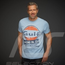 T-shirt Gulf Racing Oil Company Bleu Gulf blue blau homme men herren