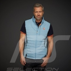 Gulf Jacket Sleeveless Performance Quilted Gulf blue / Black stripes - men