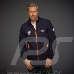 Veste Gulf zippée 50 years molleton pour homme men herren bleu marine fleece navy blue jacket marineblau Jacke