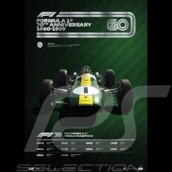 Poster Lotus F1 70ème anniversaire 1960 - 1969 Edition limitée