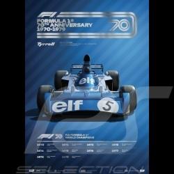 Tyrrell Poster F1 70. Geburtstag 1970 - 1979 Limitierte Auflage