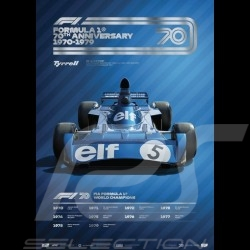 Tyrrell Poster F1 70th anniversary 1970 - 1979 Limited edition