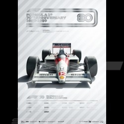 McLaren Poster F1 70th anniversary 1980 - 1989 Limited edition