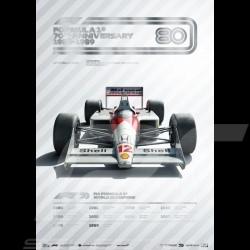 Poster McLaren F1 70ème anniversaire 1980 - 1989 Edition limitée
