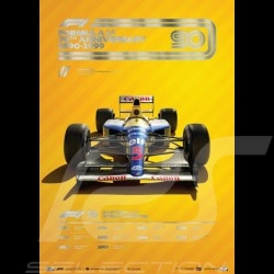 Williams Poster F1 70th anniversary 1990 - 1999 Limited edition