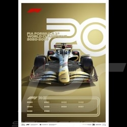"F1 Poster World champions 2020 - 2029 ""The future lies ahead"" Limitierte Auflage"