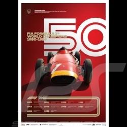 Maserati Poster F1 World champions 1950 - 1959 Limitierte Auflage