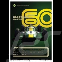 Lotus Poster F1 World champions 1960 - 1969 Limited edition