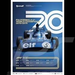 Poster Tyrrell F1 World Champions 1970 - 1979 Edition limitée
