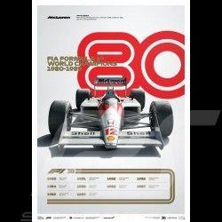 McLaren Poster F1 World champions 1980 - 1989 Limited edition