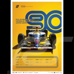 Poster Williams F1 World champions 1990 - 1999 Edition limitée