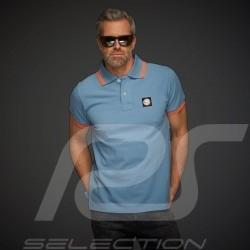 Polo shirt Gulf Classic Summer of Racing Gulfblue - men