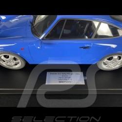 Porsche 911 Carrera RS 3.6  type 964 1994 Maritime Blue 1/8 Minichamps 800657000