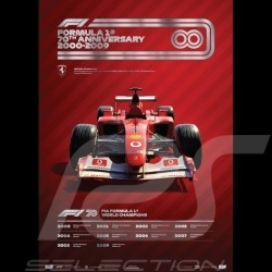 Set 8 F1 Posters 70th anniversary complete collection Limited edition
