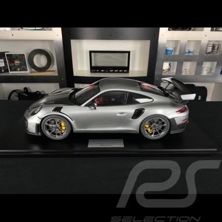 Porsche 911 GT2 RS type 991.2 2018 GT Silver 1/8 Minichamps 800620004