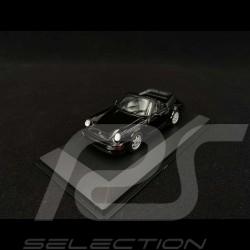 Porsche 911 Carrera 4 Cabriolet type 964 1990 black 1/43 Minichamps 940067331