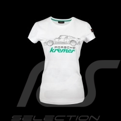 Kremer racing T-shirt Porsche 911 Carrera RSK 3.0 n° 9 Vaillant white - women