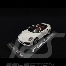 Porsche 991 Turbo S Cabriolet 2016 white Porsche St Tropez 2020 1/43 Herpa WAP0201340G
