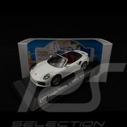 Porsche 991 Turbo S Cabriolet 2016 blanche Porsche St Tropez 2020 1/43 Herpa WAP0201340G