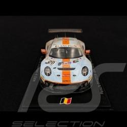 "Porsche 911 GT3 R ""Finish line"" Winner Spa 2019 n° 20 Gulf 1/43 Spark SB251CKAR"