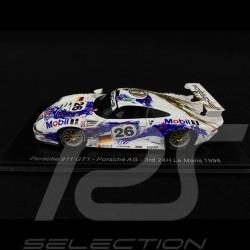 Porsche 911 type 993 GT1 Porsche AG n° 26 Le Mans 1996 1/43 Spark S5603