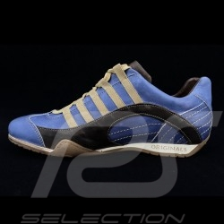 Sneaker / basket shoes Style race driver Pacific blue / brown V2 - men