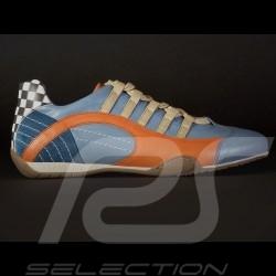 Sneaker / basket shoes style race driver Gulf blue V2 - men