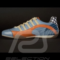 Sneaker / basket shoes style race driver Gulf blue V2 - men