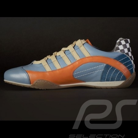 Sneaker / Basket Schuhe style Rennfahrer Gulf blau V2 - Herren