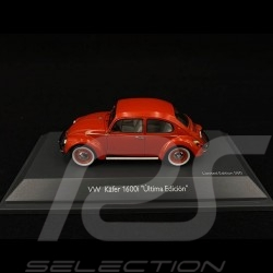 """Volkswagen VW Coccinelle 1600i """"Ultima Edicion"""" rouge red rot 1/43 Schuco 450269400"""