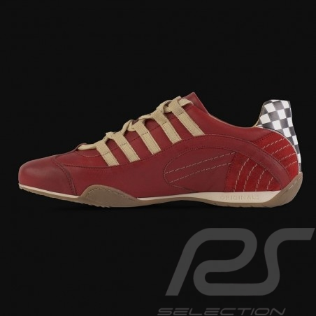 Sneaker / Basket Schuhe Style Rennfahrer Corsa Rosso Rot - Herren