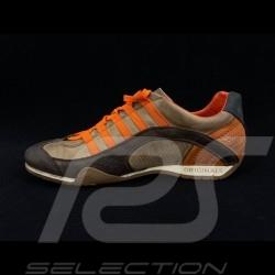 Sneaker / Basket Schuhe Style Rennfahrer Braun / orange - Herren